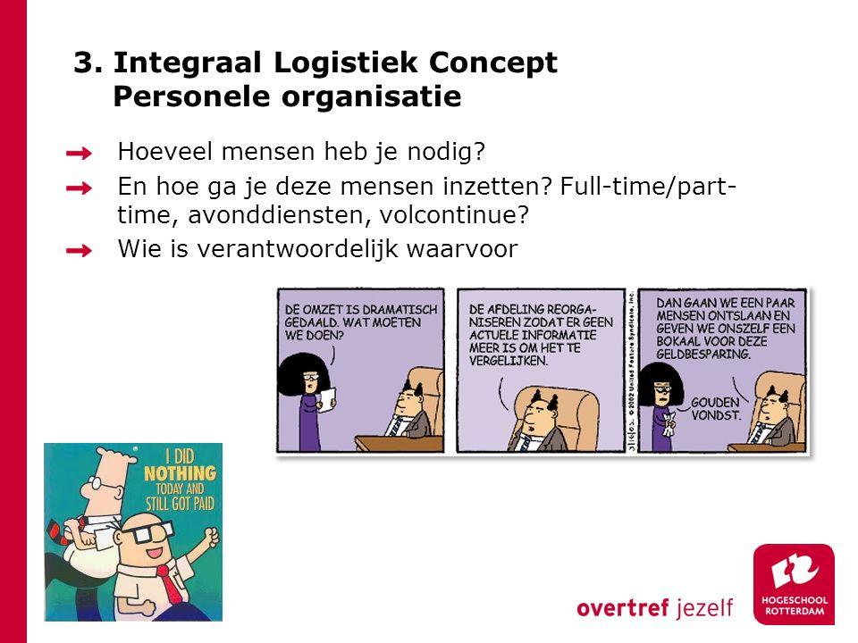 3. Integraal Logistiek Concept Personele organisatie