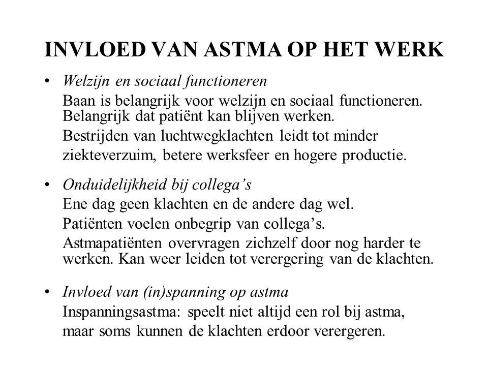 INVLOED VAN ASTMA OP HET WERK