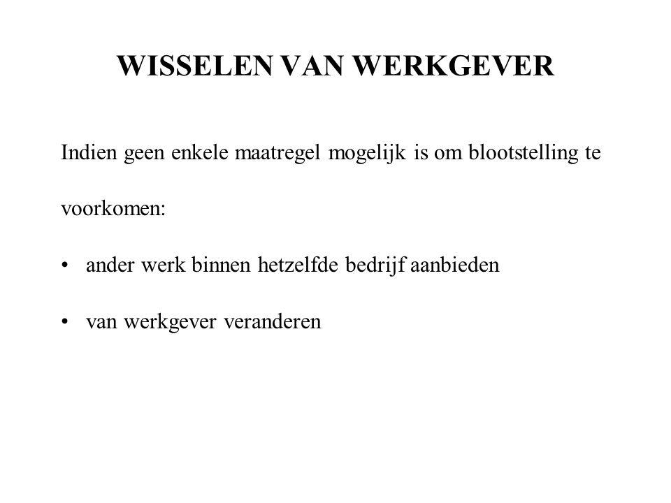 WISSELEN VAN WERKGEVER