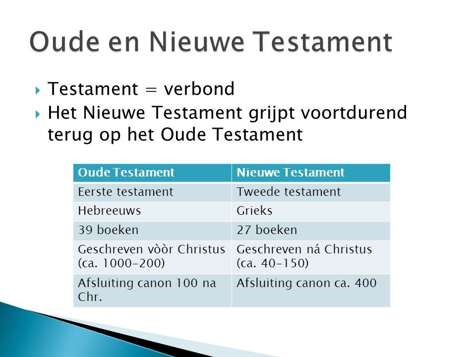 Oude en Nieuwe Testament