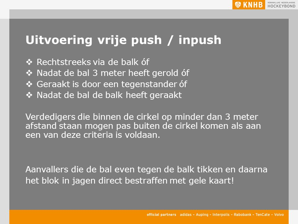 Uitvoering vrije push / inpush