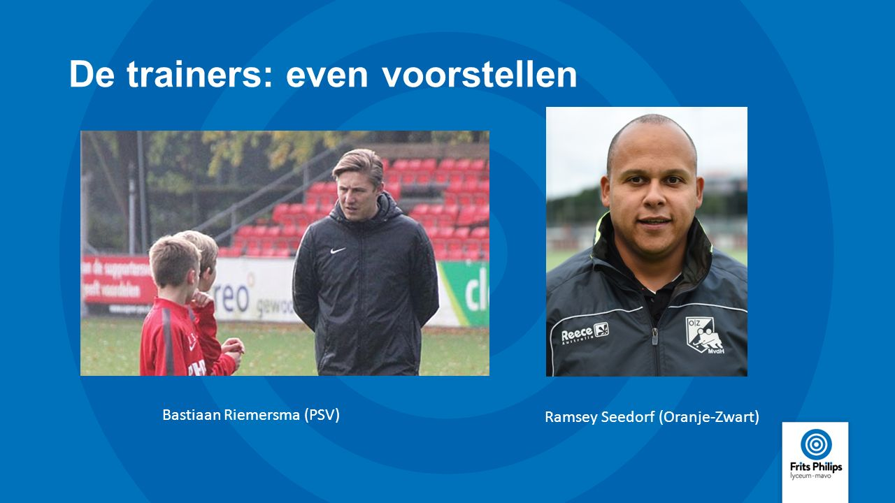 De trainers: even voorstellen