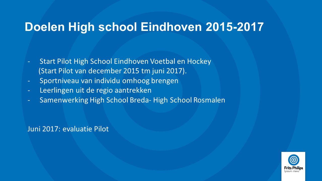 Doelen High school Eindhoven 2015-2017