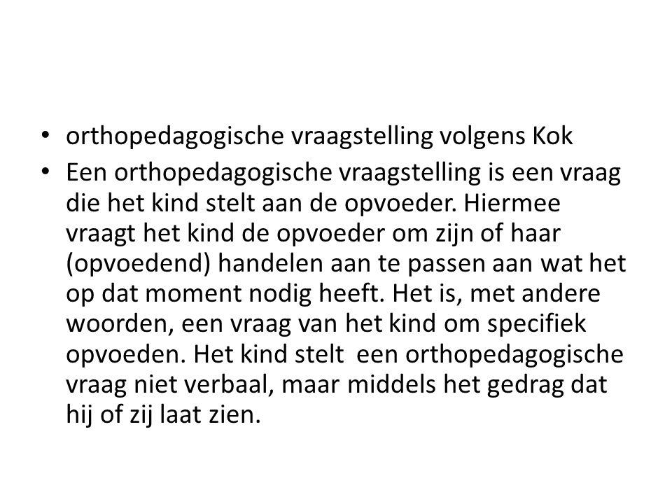 orthopedagogische vraagstelling volgens Kok