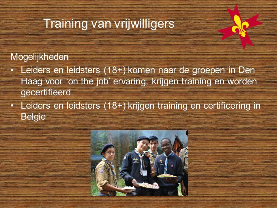 Training van vrijwilligers