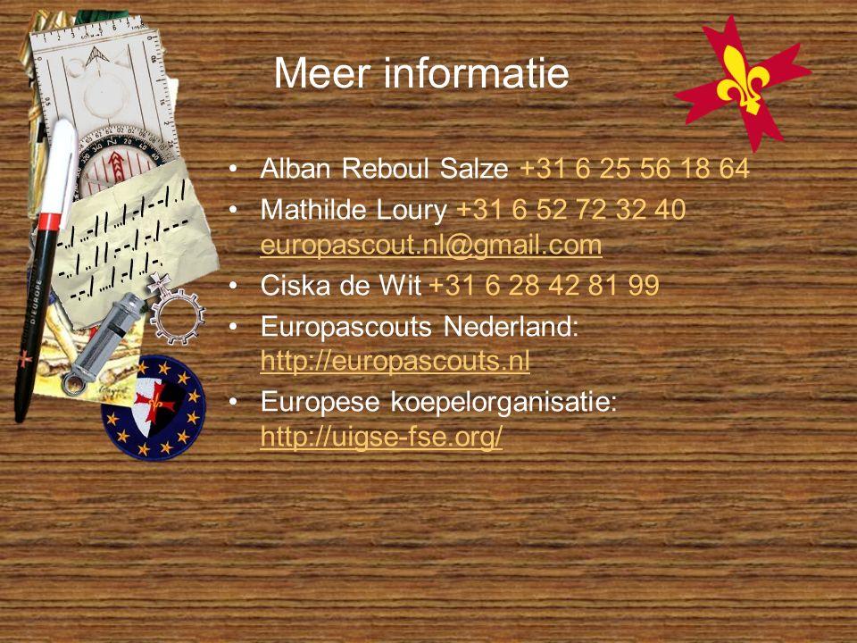 Meer informatie Alban Reboul Salze +31 6 25 56 18 64