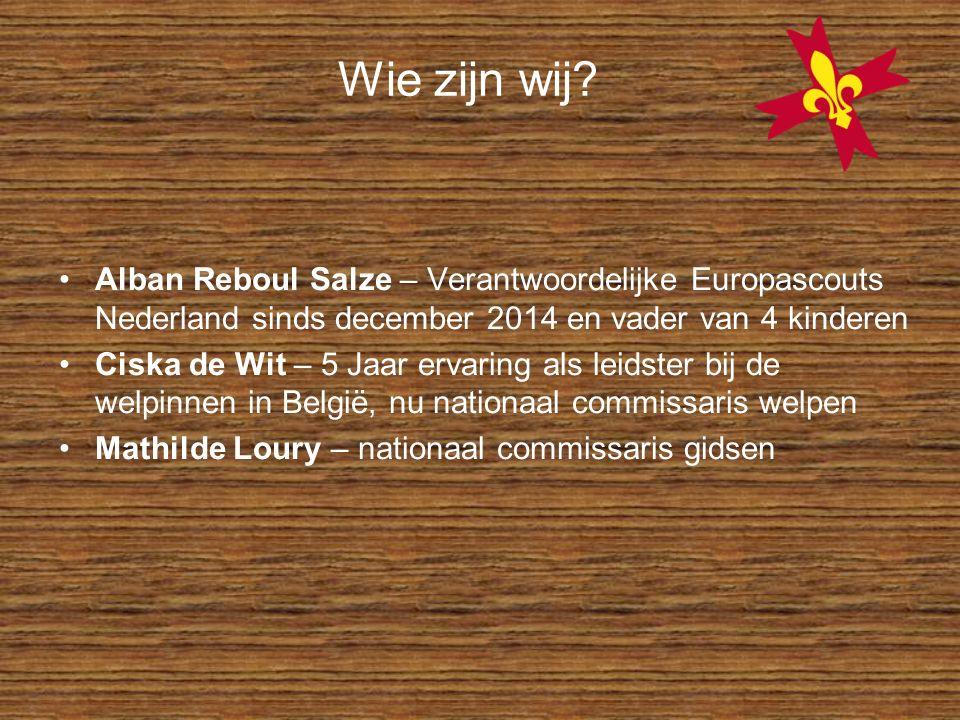 Wie zijn wij Alban Reboul Salze – Verantwoordelijke Europascouts Nederland sinds december 2014 en vader van 4 kinderen.