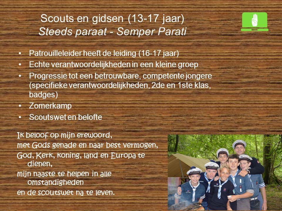 Scouts en gidsen (13-17 jaar) Steeds paraat - Semper Parati