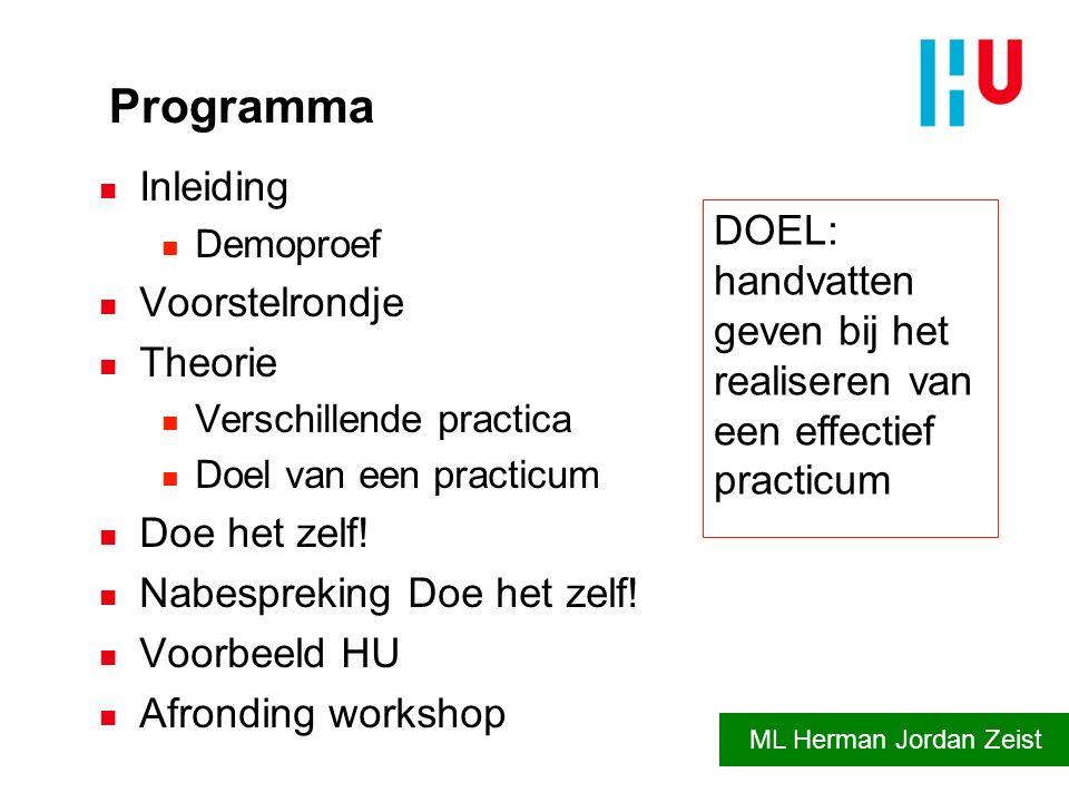Programma Inleiding DOEL: Voorstelrondje