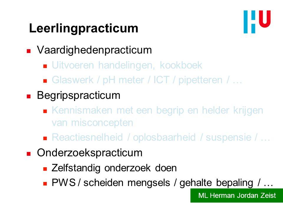 Leerlingpracticum Vaardighedenpracticum Begripspracticum
