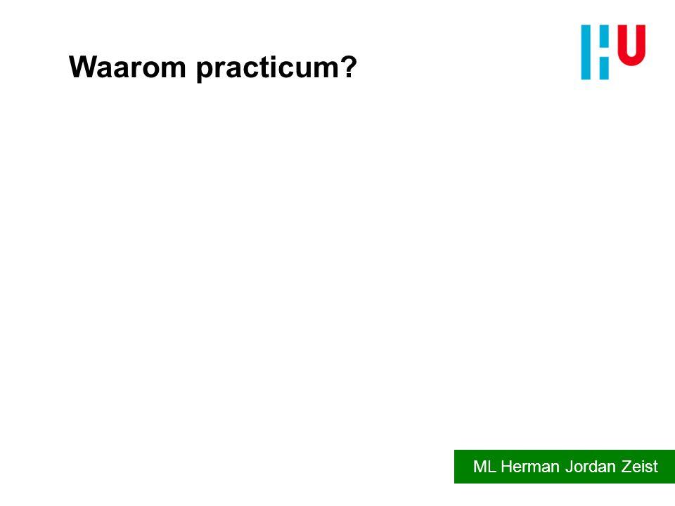 Waarom practicum ML Herman Jordan Zeist