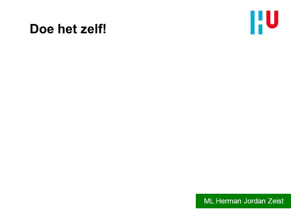 Doe het zelf! ML Herman Jordan Zeist