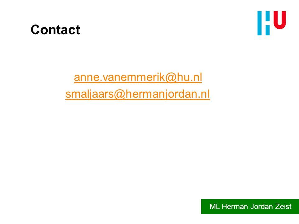 anne.vanemmerik@hu.nl smaljaars@hermanjordan.nl