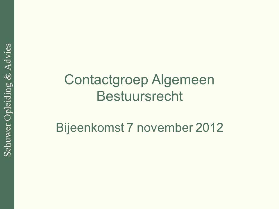 Contactgroep Algemeen Bestuursrecht