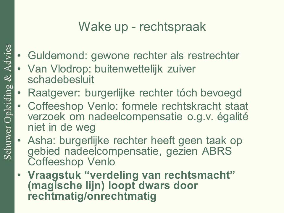 Wake up - rechtspraak Guldemond: gewone rechter als restrechter
