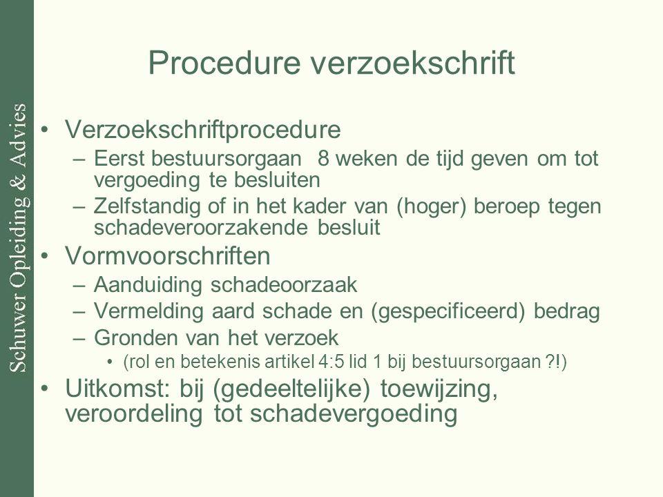Procedure verzoekschrift