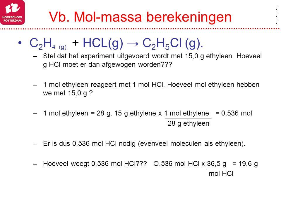 Vb. Mol-massa berekeningen