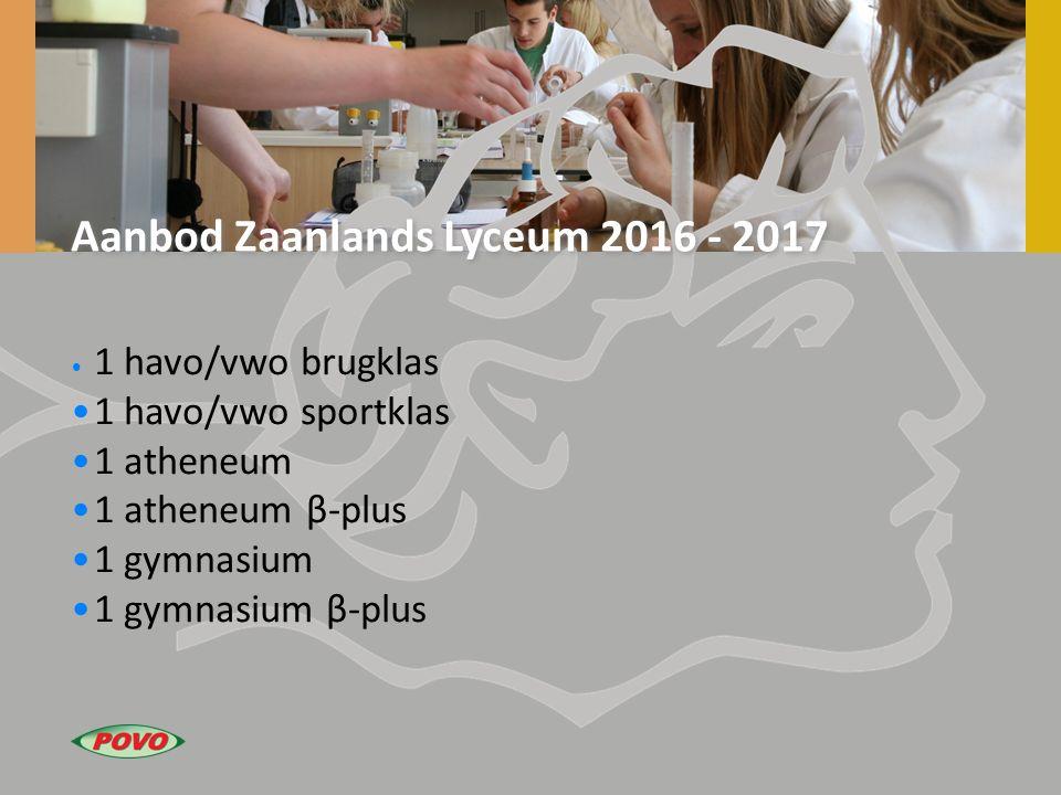 Aanbod Zaanlands Lyceum 2016 - 2017