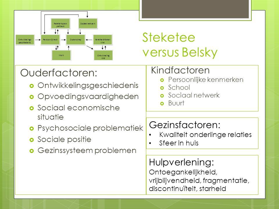 Steketee versus Belsky