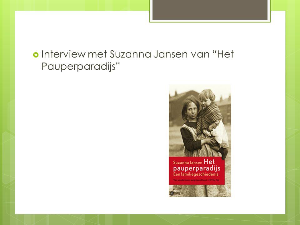 Interview met Suzanna Jansen van Het Pauperparadijs
