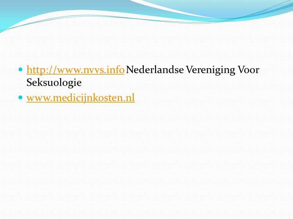 http://www.nvvs.info Nederlandse Vereniging Voor Seksuologie