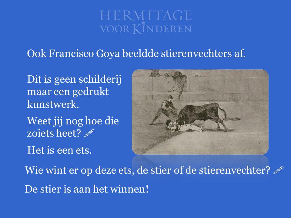 Ook Francisco Goya beeldde stierenvechters af.