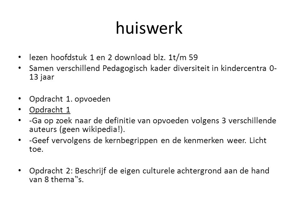 huiswerk lezen hoofdstuk 1 en 2 download blz. 1t/m 59