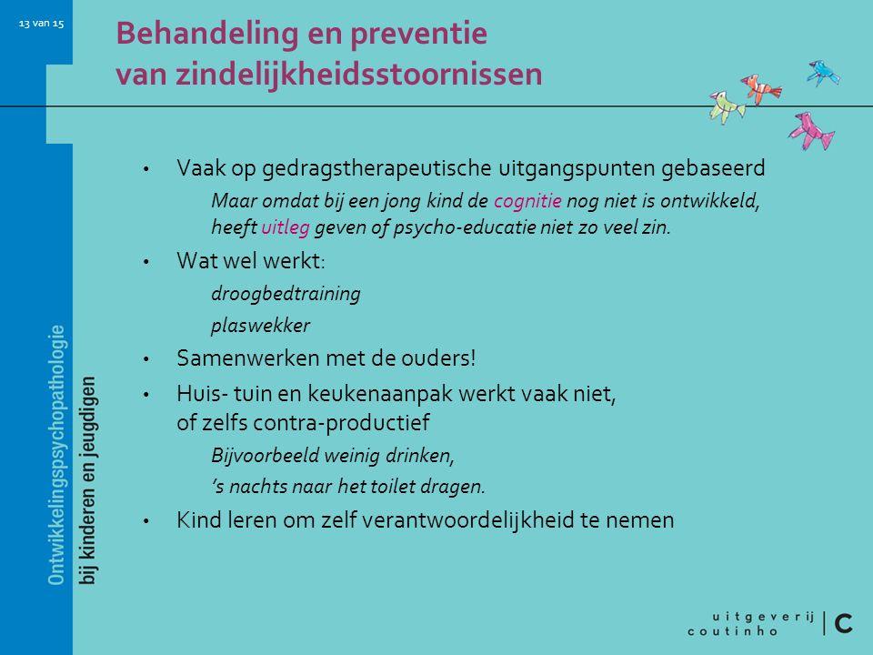 Behandeling en preventie van zindelijkheidsstoornissen