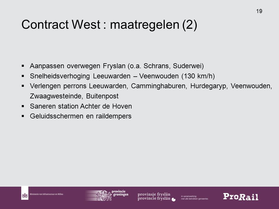 Contract West : maatregelen (2)