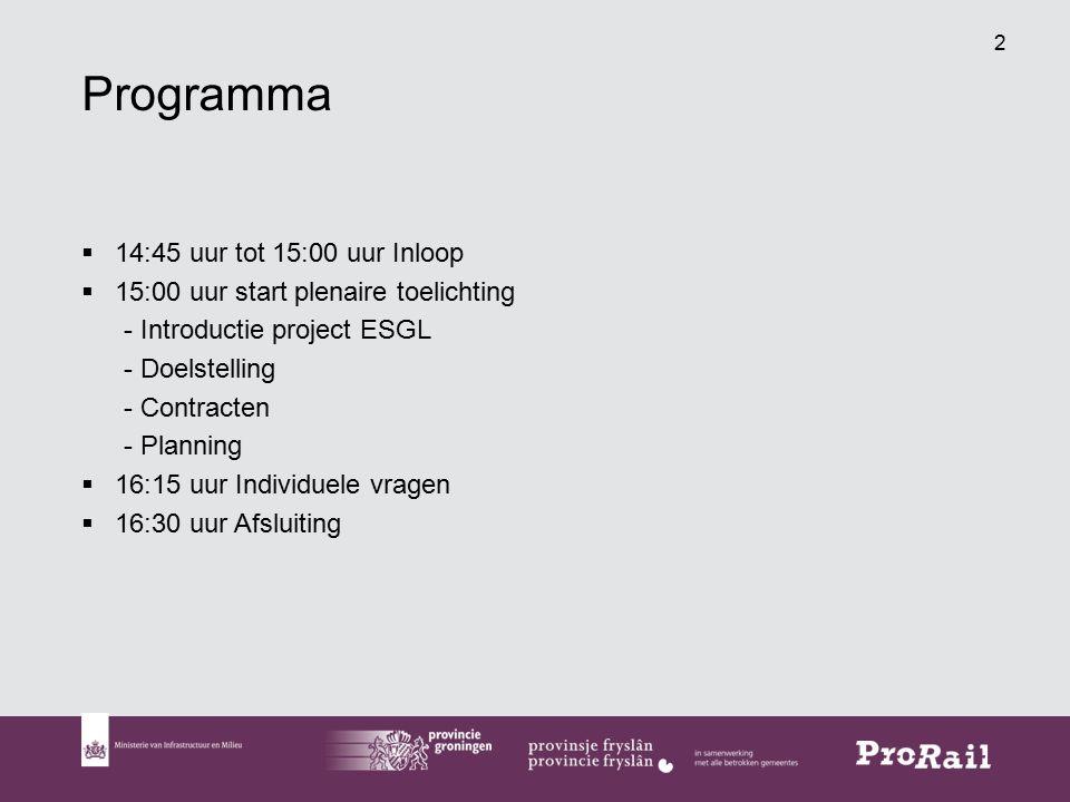 Programma 14:45 uur tot 15:00 uur Inloop