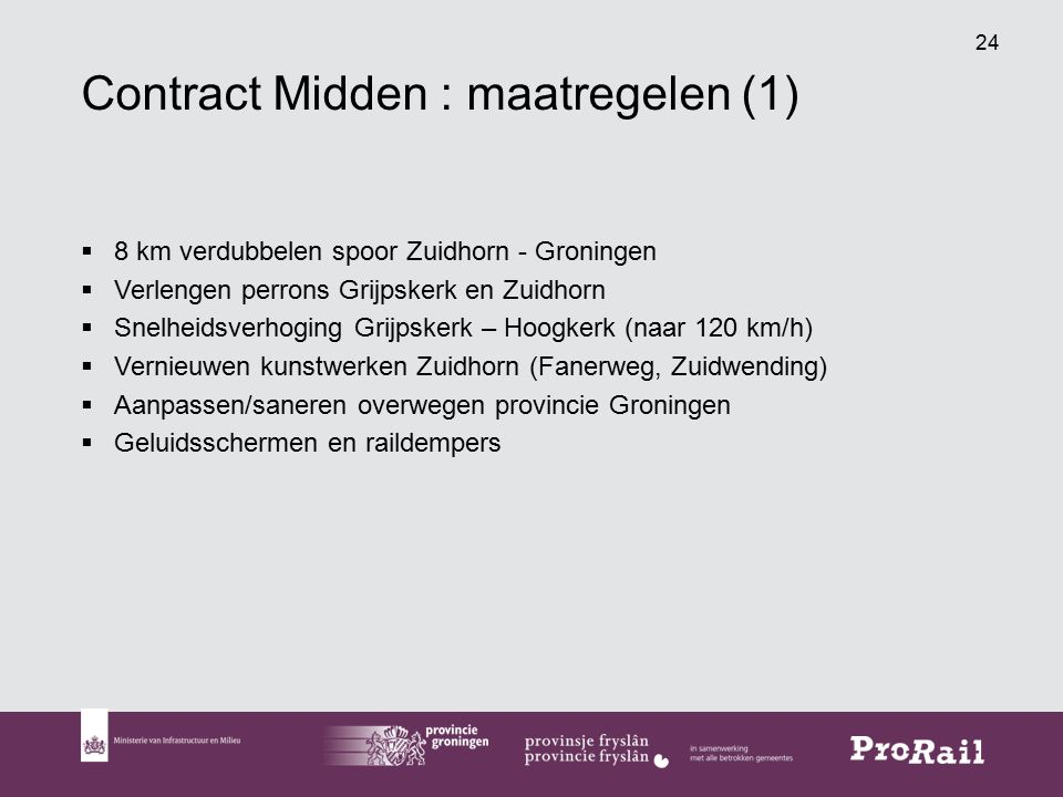 Contract Midden : maatregelen (1)