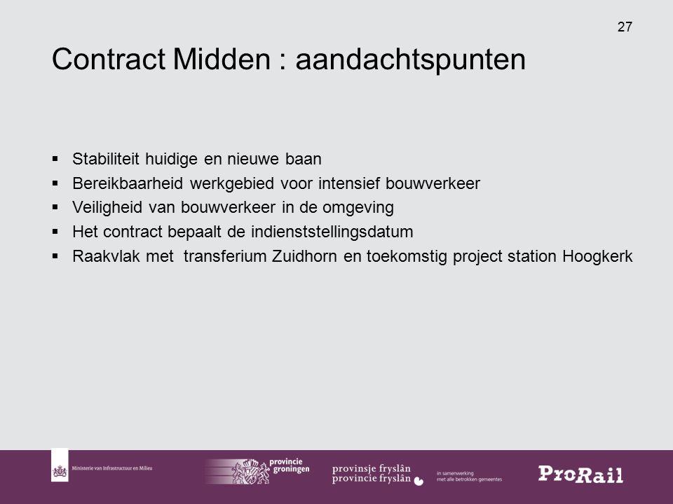 Contract Midden : aandachtspunten