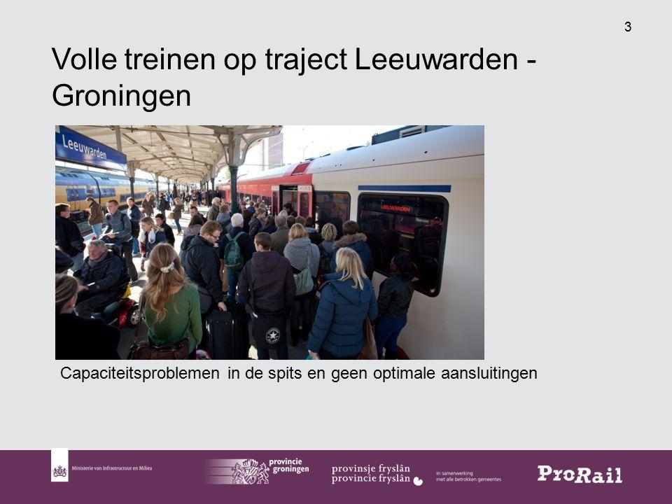 Volle treinen op traject Leeuwarden - Groningen