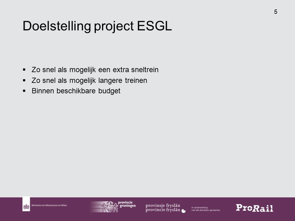 Doelstelling project ESGL