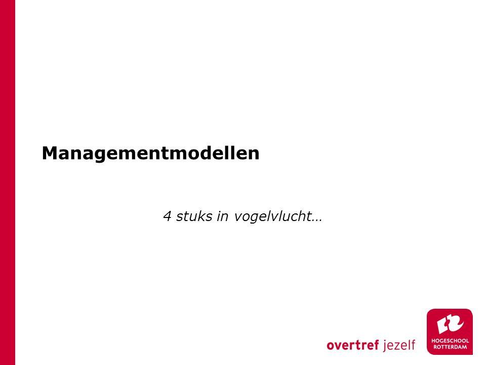 Managementmodellen 4 stuks in vogelvlucht…