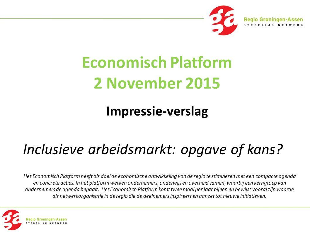 Economisch Platform 2 November 2015 Impressie-verslag