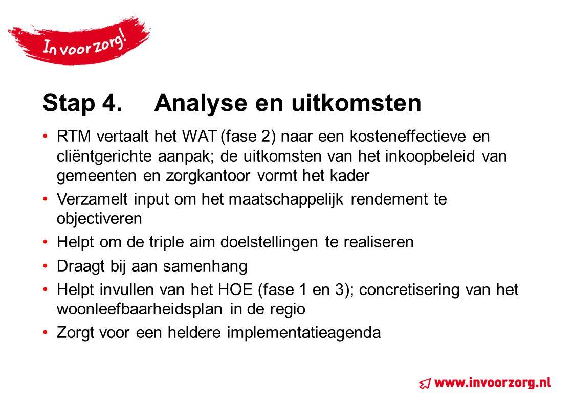 Stap 4. Analyse en uitkomsten