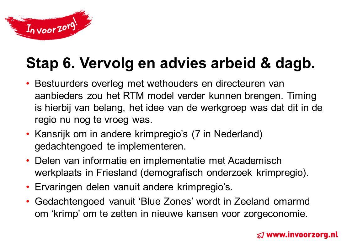 Stap 6. Vervolg en advies arbeid & dagb.