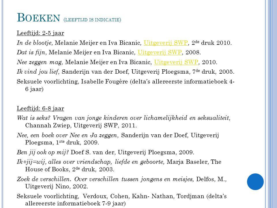 Boeken (leeftijd is indicatie)