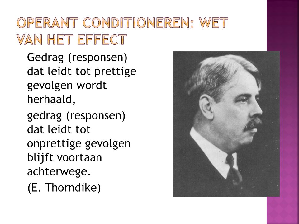 Operant conditioneren: wet van het effect