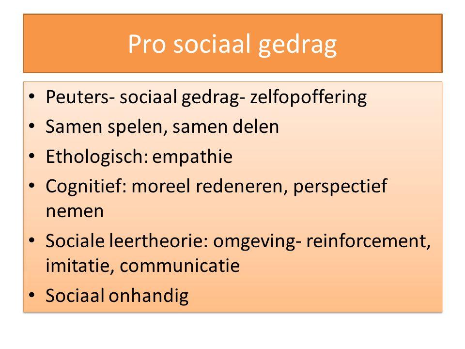 Pro sociaal gedrag Peuters- sociaal gedrag- zelfopoffering