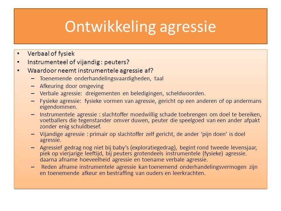 Ontwikkeling agressie