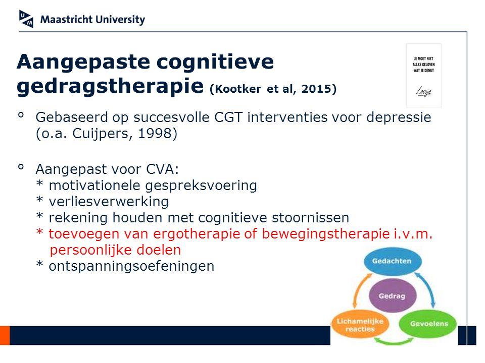 Aangepaste cognitieve gedragstherapie (Kootker et al, 2015)