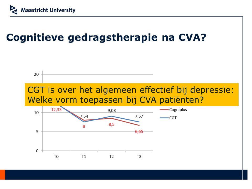 Cognitieve gedragstherapie na CVA