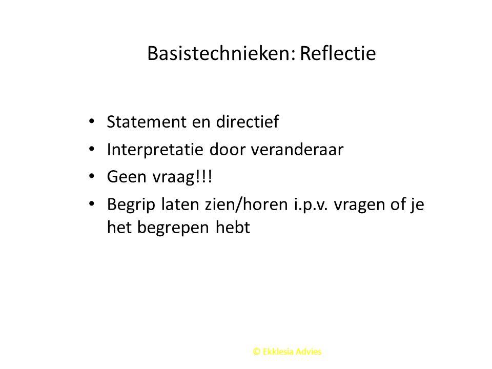 Basistechnieken: Reflectie