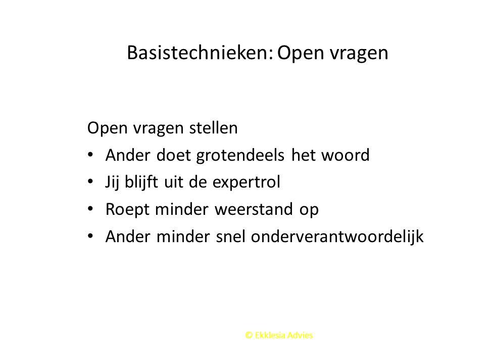 Basistechnieken: Open vragen