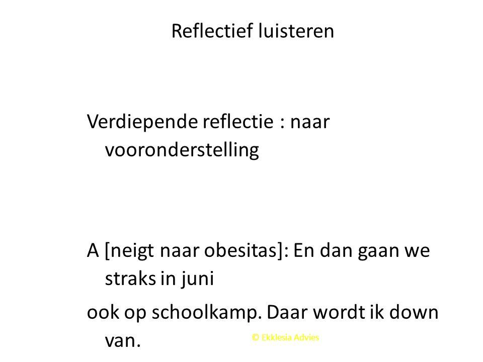 Verdiepende reflectie : naar vooronderstelling