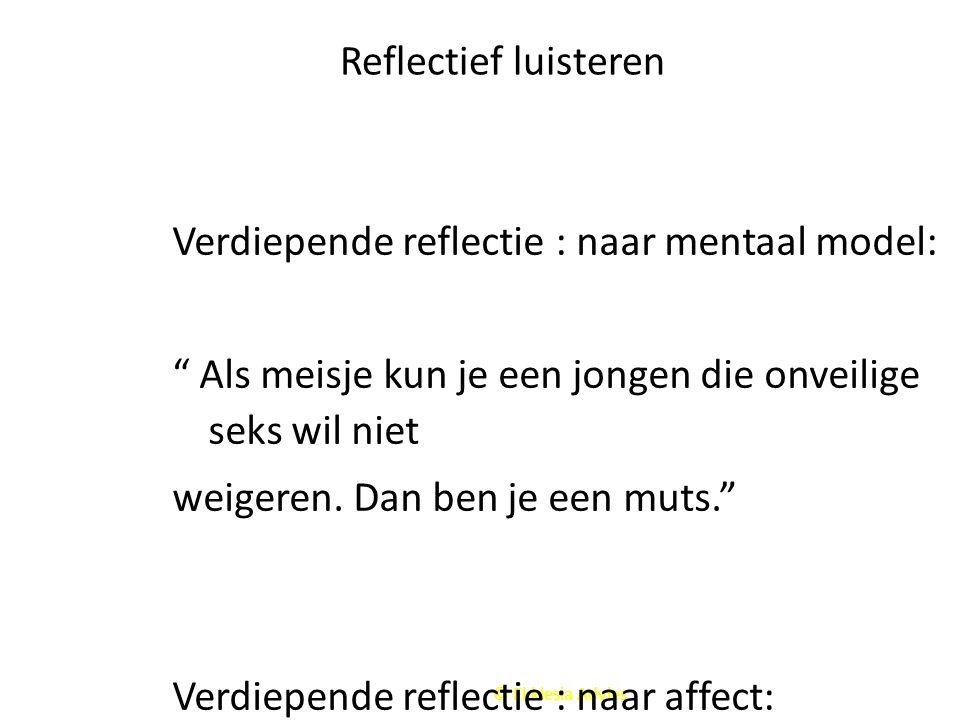Verdiepende reflectie : naar mentaal model: