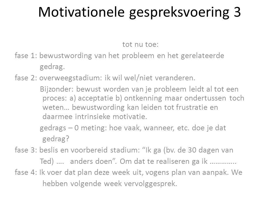 Motivationele gespreksvoering 3