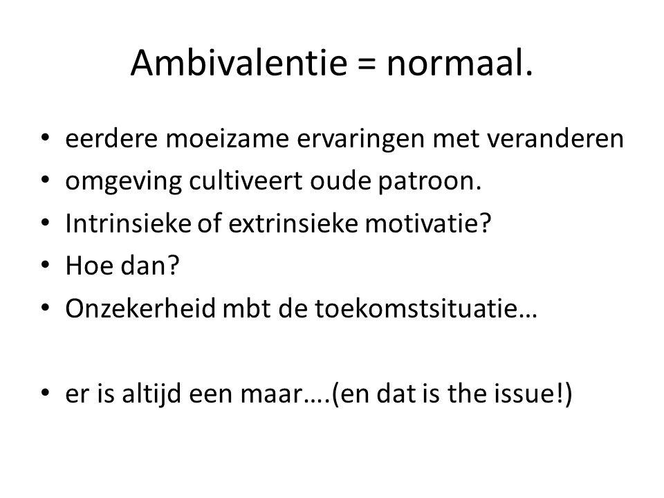 Ambivalentie = normaal.